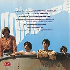<cite>Greatest Hits</cite> album cover inner sleeve