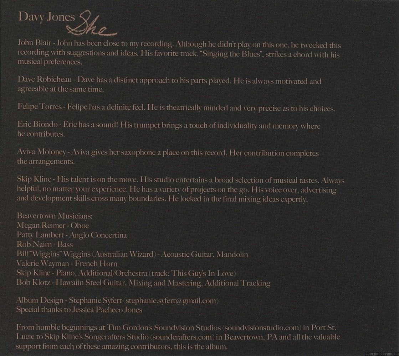 She 2009 Lyrics Davy Jones Sunshine Factory Monkees Fan Site