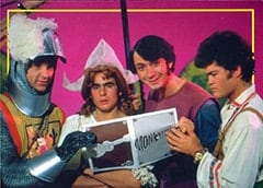 Peter Tork, Gretel (Davy Jones), Mike Nesmith, Hansel (Micky Dolenz)