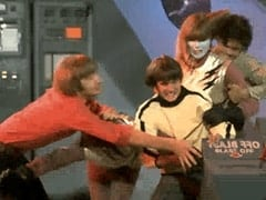 "Peter Tork, Davy Jones, Assistant (Nita Talbot), Micky Dolenz - ""Monkees Watch their Feet"""