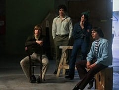 Peter Tork (L.B. Fisher), Micky Dolenz (Aaron Lohr), Mike Nesmith (Jeff Geddis), Davy Jones (George Stanchev)