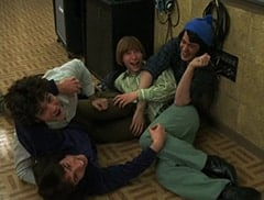 Micky Dolenz (Aaron Lohr), Peter Tork (L.B. Fisher), Mike Nesmith (Jeff Geddis), Davy Jones (George Stanchev)