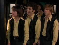 Davy Jones (George Stanchev), Micky Dolenz (Aaron Lohr), Mike Nesmith (Jeff Geddis), Peter Tork (L.B. Fisher)