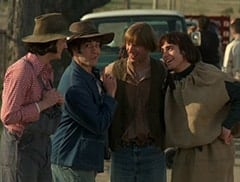 Mike Nesmith (Jeff Geddis), Micky Dolenz (Aaron Lohr), Peter Tork (L.B. Fisher), Davy Jones (George Stanchev)