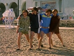 Davy Jones (George Stanchev), Mike Nesmith (Jeff Geddis), Micky Dolenz (Aaron Lohr), Peter Tork (L.B. Fisher)
