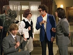 Peter Tork (L.B. Fisher), Producer (Edward Glen), Micky Dolenz (Aaron Lohr), Davy Jones (George Stanchev)