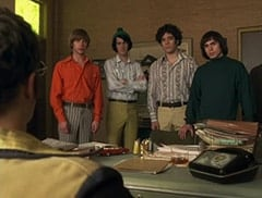 Peter Tork (L.B. Fisher), Mike Nesmith (Jeff Geddis), Micky Dolenz (Aaron Lohr), Davy Jones (George Stanchev)
