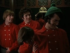 Peter Tork (L.B. Fisher), Micky Dolenz (Aaron Lohr), Davy Jones (George Stanchev), Mike Nesmith (Jeff Geddis)