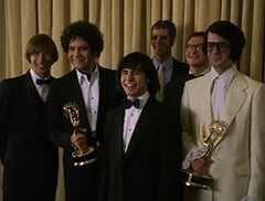 Peter Tork (L.B. Fisher), Micky Dolenz (Aaron Lohr), Davy Jones (George Stanchev), Harris (Stephen Bogaert), Mike Nesmith (Jeff Geddis)