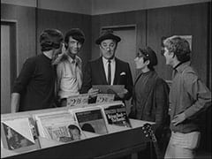 Unknown Auditioner, Mike Nesmith, Record Buyer (?), Davy Jones, Bill Chadwick