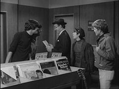 Unknown Auditioner, Mike Nesmith, Record Buyer (Dick Wilson), Davy Jones, Bill Chadwick