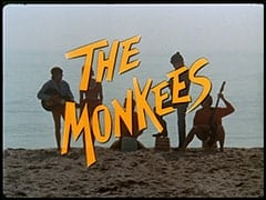 Davy Jones, Vanessa Russell (Robyn Millan), Micky Dolenz, Mike Nesmith, Peter Tork - The Monkees