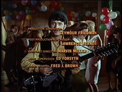 Mike Nesmith - Production supervisor: Seymour Friedman / Post production supervisor: Lawrence Werner / Assistant director: Marvin Miller / Music supervision: Ed Forsyth / Sound effects: Fred J. Brown