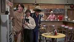 Mike Nesmith, Davy Jones, Micky Dolenz, Mr. and Mrs. Ace (T.C. Jones)