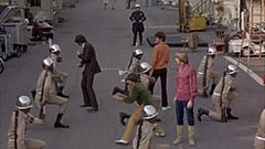 Mike Nesmith, Davy Jones, Officer Faye Lapid (Logan Ramsey), Micky Dolenz, Peter Tork