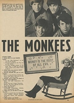 <cite>Tiger Beat</cite> (November 1966), We Are The Monkees, Page 35