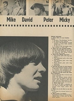 <cite>Tiger Beat</cite> (November 1966), We Are The Monkees, Page 36