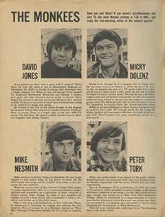 <cite>16</cite> (December 1966), The Monkees, Page 66