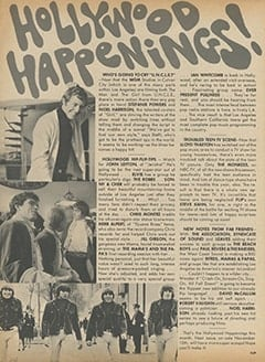 <cite>Flip</cite> (December 1966), Hollywood Happenings, Page 12
