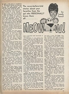 <cite>Tiger Beat</cite> (December 1966), Meow&hellip;w!, Page 67