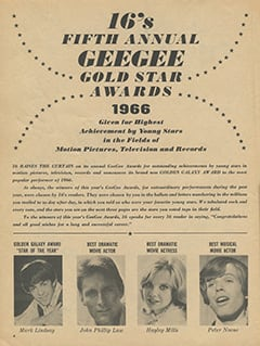 <cite>16 Spec</cite> (Winter 1967), 16's Fifth Annual GeeGee Gold Star Awards 1966, Page 04