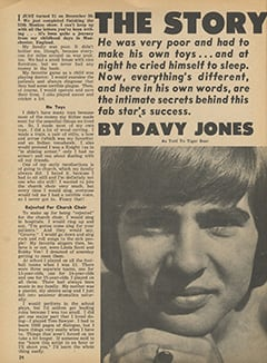 <cite>Tiger Beat</cite> (January 1967), The Story of My Life by Davy Jones, Page 24