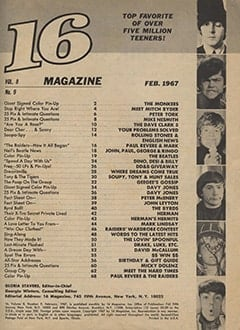 <cite>16</cite> (February 1967) table of contents
