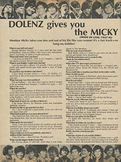 <cite>16</cite> (February 1967), Dolenz Gives You the Micky, Page 60