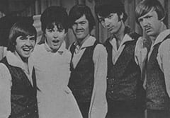 Davy Jones, Gloria Stavers, Micky Dolenz, Mike Nesmith, Peter Tork