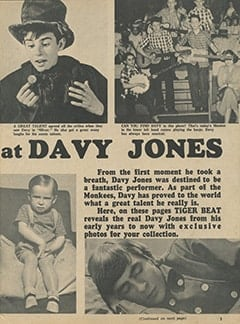 <cite>Tiger Beat</cite> (February 1967), A Special Look at Davy Jones, Page 03