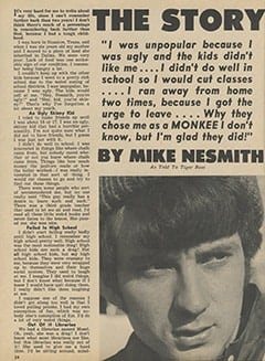 <cite>Tiger Beat</cite> (February 1967), The Story of My Life by Mike Nesmith, Page 24