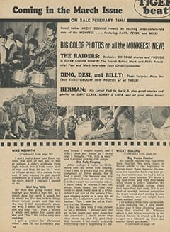 <cite>Tiger Beat</cite> (February 1967), The Story of My Life by Mike Nesmith, Page 62