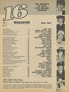 <cite>16</cite> (March 1967) table of contents