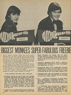 <cite>16</cite> (March 1967), Biggest Monkees Super-Fabulous Freebie Giveaway, Page 28