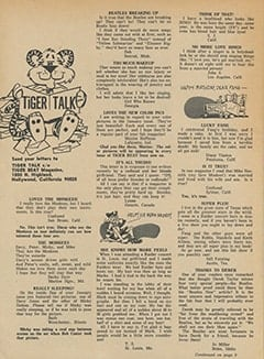 <cite>Tiger Beat</cite> (March 1967), Tiger Talk, Page 06
