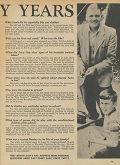 <cite>Tiger Beat</cite> (March 1967), Davy's Early Years, Page 15