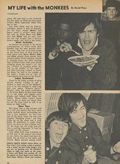<cite>Tiger Beat</cite> (March 1967), My Life with The Monkees, Page 22