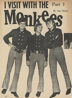 <cite>Tiger Beat</cite> (March 1967), I Visit with The Monkees (Part 3), Page 28