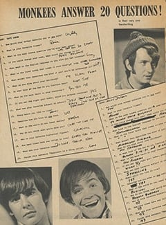 <cite>Tiger Beat</cite> (March 1967), Monkees Answer 20 Questions, Page 32