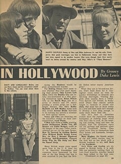 <cite>Tiger Beat</cite> (March 1967), It's Happening in Hollywood, Page 39