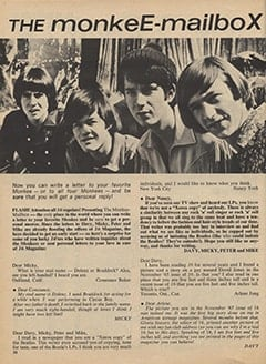 <cite>16</cite> (April 1967), The Monkee-Mailbox, Page 28
