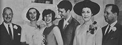 Paul Barbour, Betty Barbour, Phyllis Nesmith, Mike Nesmith, Bette Nesmith, Bob Graham
