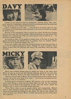 <cite>Monkee Spectacular</cite> (April 1967), What Are They Really Like?, Page 09
