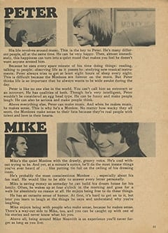 <cite>Monkee Spectacular</cite> (April 1967), What Are They Really Like?, Page 11