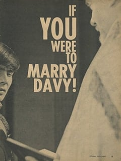 <cite>Monkee Spectacular</cite> (April 1967), Here's What Davy Jones Expects from Marriage, Page 13