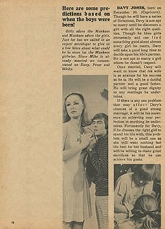 <cite>Monkee Spectacular</cite> (April 1967), Romance in Their Futures?, Page 16