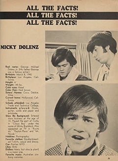 <cite>Monkee Spectacular</cite> (April 1967), All the Facts, Page 25