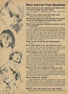 <cite>Monkee Spectacular</cite> (April 1967), Questions and Answers, Page 30