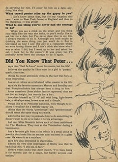 <cite>Monkee Spectacular</cite> (April 1967), Questions and Answers, Page 31
