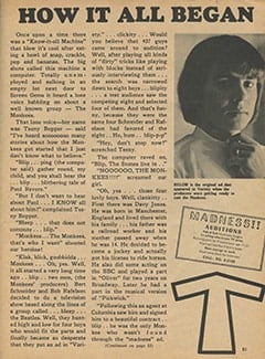 <cite>Monkee Spectacular</cite> (April 1967), How It All Began, Page 51